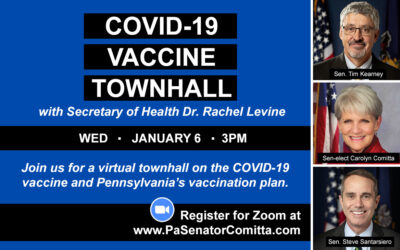 Comitta, Kearney, Santarsiero to Hold Virtual Townhall on COVID-19 Vaccine