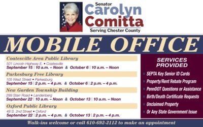 Comitta to Hold Mobile Office Locations in  Oxford, Coatesville, Parkesburg, Phoenixville and New Garden