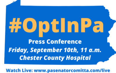 Comitta, Women's Health Caucus Leaders to Hold #OptInPa Press Conference at Chester County Hospital on Friday